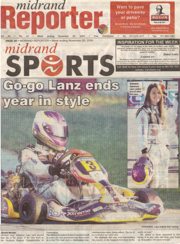 Fabienne Lanz crowned Northern Regions champion and ends karting season in style