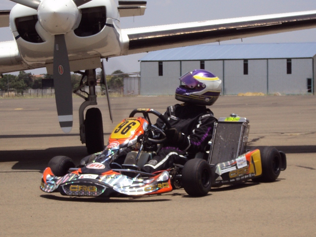 Fabienne lights up the Drag Strip at Nitro Raceway in head to head kart race