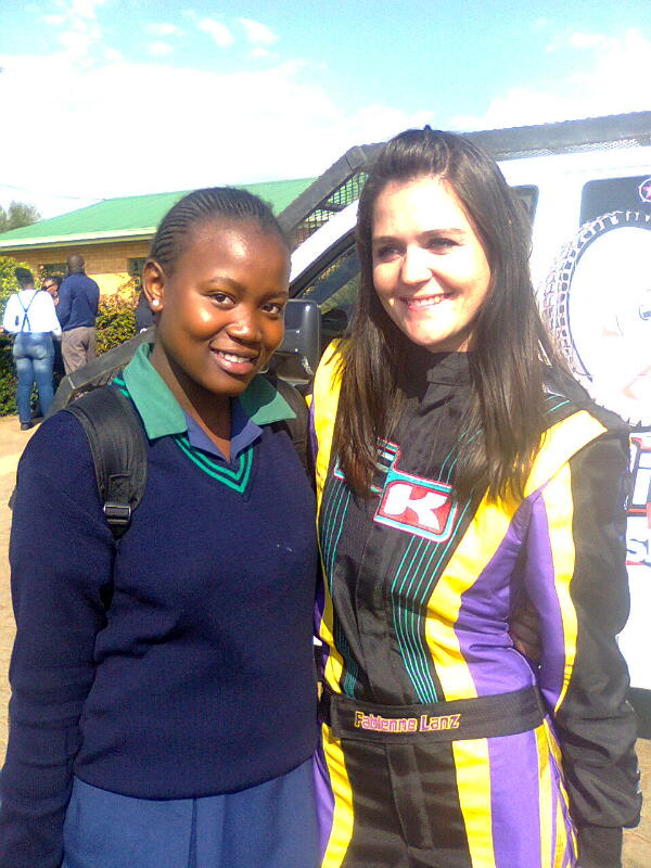 Fabienne presents to 'Kasi 2 Kasi' schools motorsport project