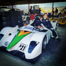 Fabienne and SR2 in the pits